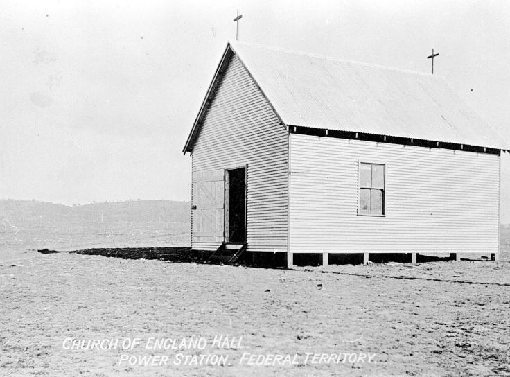 Church of England Hall, Power Station, ACT. Source Museum Victoria. <a title=