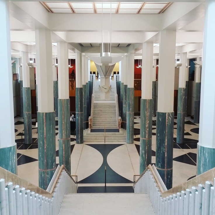 The Marble Foyer, Parliment house, Canberra, ACT. Photo © Jade Koekoe