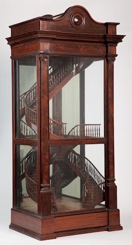 Staircase Model - 1866 Intercolonial Exhibition, Munzel, Melbourne, 1866. Source Museum Victoria.