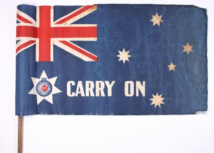 'Carry On', World War I, circa 1918. Source Museum Victoria.