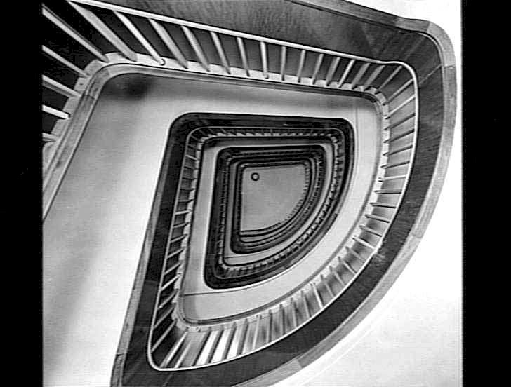 Orient Line Staircase, RMS Orcades, 1948. Source Museum Victoria.