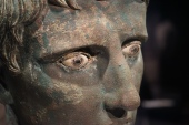 Close up for the eyes on the Head of Augustus