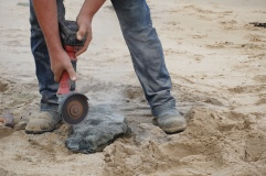 The angle grinder