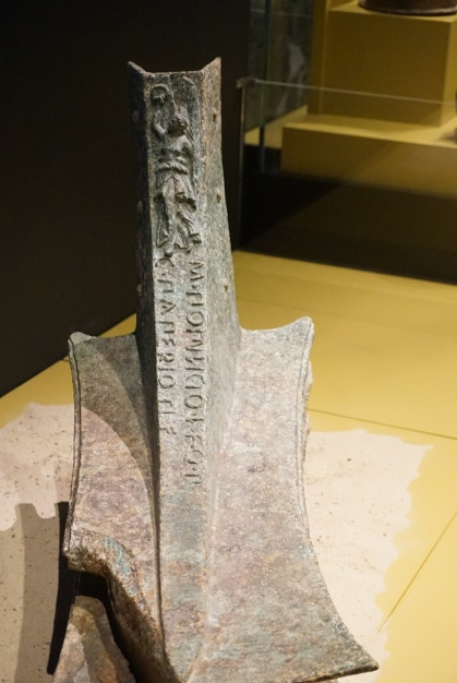 Rostrum from a Roman warship, battle of the Aegates island, bronze, 250-241 BCE. Photo © Jade Koekoe