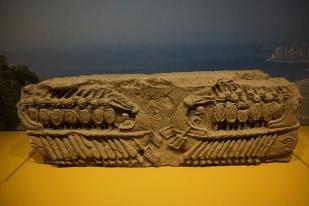 Relief, two warships Naples, stone, 200-30 BCE. Photo © Jade Koekoe