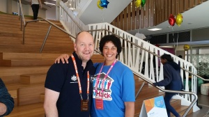 At GovHack 2017 with Toby Bellwood