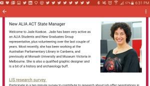 Jade Koekoe_ALIA ACT State Manager